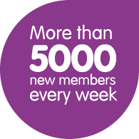 More than 5000 new members every week